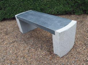 """salg af Stenhavebænk """"jakob"""" i gråsort granit"""