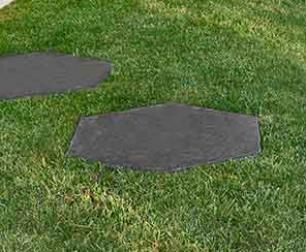 salg af Trædeflise 6-kantet sort basalto