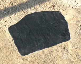 salg af Trædeflise skiferlook sort