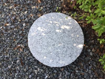 Trædesten 40 cm - Grå granit 1 styk