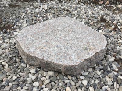 salg af Trædesten - Rosa granit