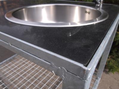 udekøkken med granit bordplade