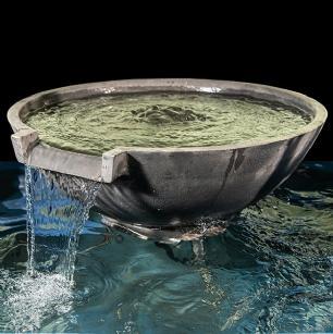 salg af Mørkegrå vandfalds skål