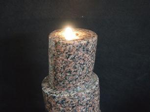 salg af Vandsten skorsten - Rød granit