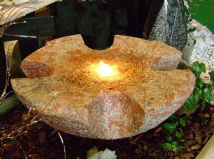 salg af Skåleformet vandsten i rødlig granit