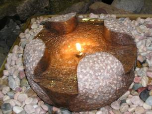 salg af Komplet vandsten udhulet granitkugle