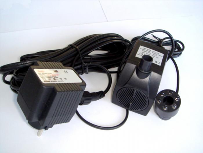Fremragende Køb Havespringvandspumpe, stor m/ LED lys Løftehøjde 100-150 cm YB43