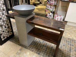 salg af Vask med hylde af drivtømmer