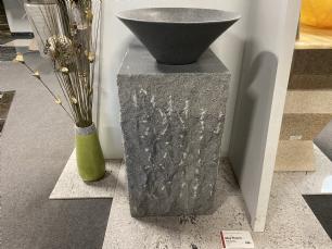 salg af Vaskesøjle gråsort granit