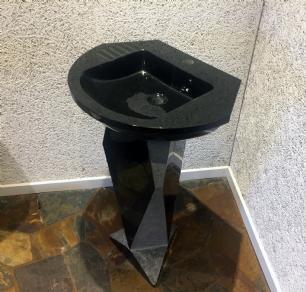 salg af Vaskesøjle i sort granit