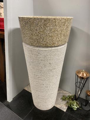 salg af Vaskesøjle rund i gyldent granit
