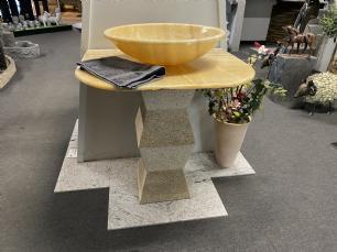 salg af Vaskesøjle i Gul Onyx marmor