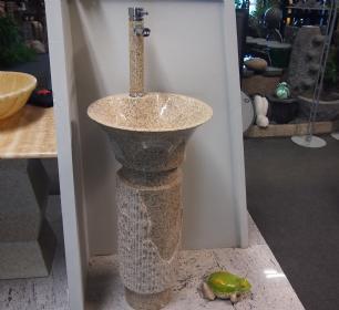salg af Vaskesøjle cremefarvet granit