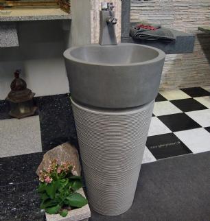salg af Vaskesøjle fintslebet mørk granit nr. 05