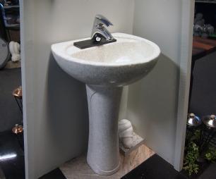 salg af Vaskesøjle - White Pearl granit